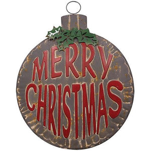 Merry Christmas Bulb Rustic Ornament Sign - Jam-Discount Home Decor