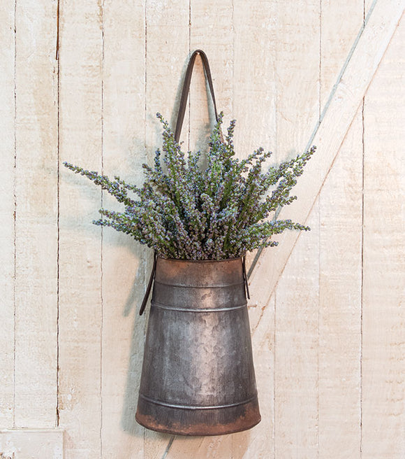 Metal Flower Holder with Strap Farmhouse Rustic Spring decor - Jam-Discount Home Decor