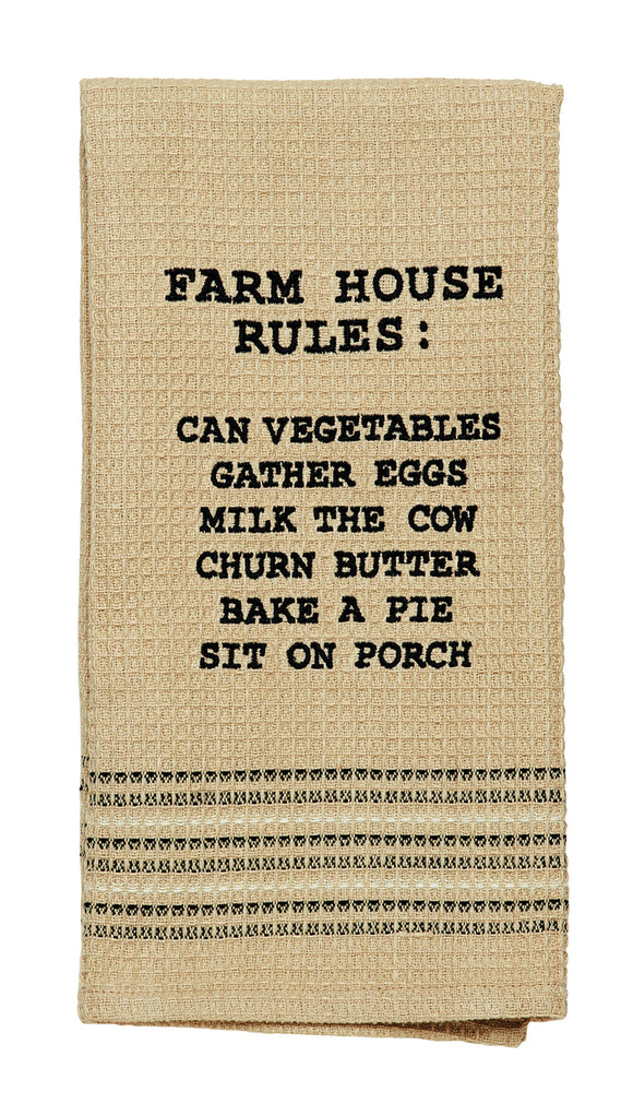 Farmhouse Rules Dishtowel Kitchen Gifts - Jam-Discount Home Decor
