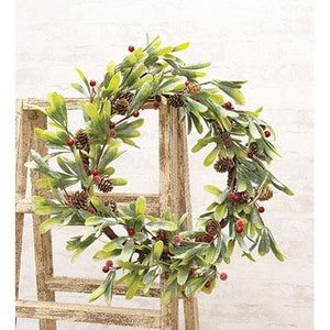 Merry Christmas Mistletoe Wreath Winter Flowers - Jam-Discount Home Decor