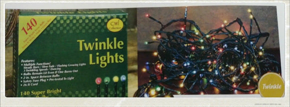 Teeny Christmas tree Lights 140ct 27ft Multiple Green Wire Twinkling Multicolored - Jam-Discount Home Decor