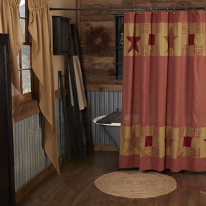 "Ninepatch Star Shower Curtain 72"" x 72"" - Jam-Discount Home Decor"