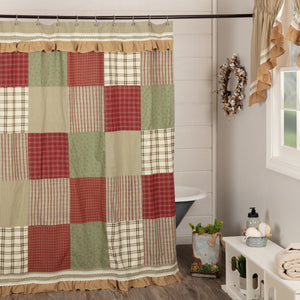 Farmhouse Patchwork Prairie Winds Shower Curtain 72x72 - Jam-Discount Home Decor