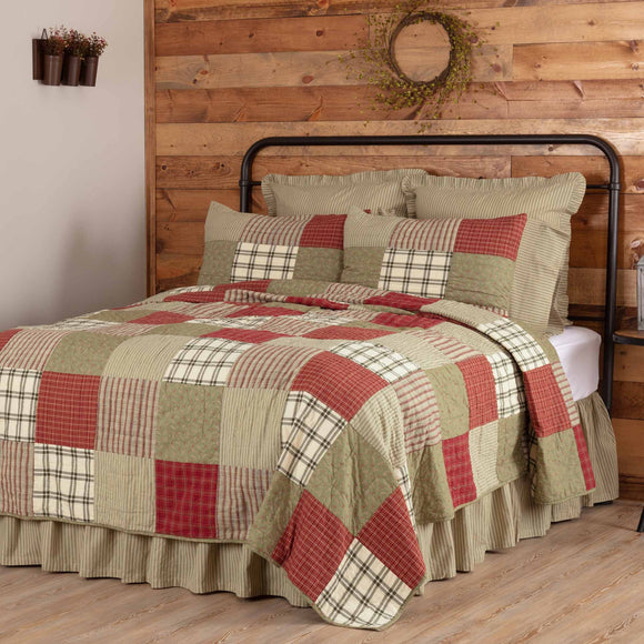Prairie Winds Patchwork Quilts Shams Pillow King Queen Twin Vhc Brands