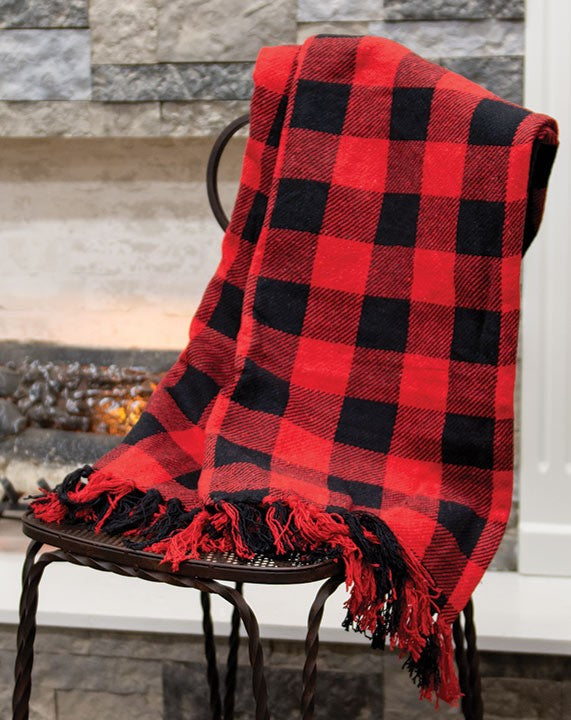Red & Black Buffalo Check Throw Blanket