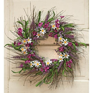 "Spring Flower & Phlox Door Wreath, 24"" - Jam-Discount Home Decor"