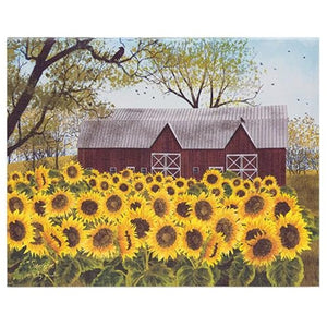 Billy Jacobs Field of Sunflowers Canvas Wood Frame - Jam-Discount Home Decor