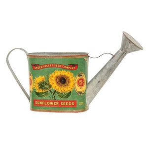 Green Valley Sunflower Seeds Watering Can - Jam-Discount Home Decor