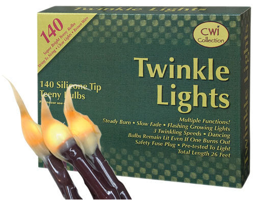 Rustic Christmas Tree Silicone Dipped Twinkle Lights 140 Ct - Jam-Discount Home Decor