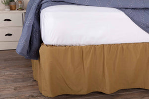 Solid Khaki Bed Skirt Twin Size Dust Ruffle