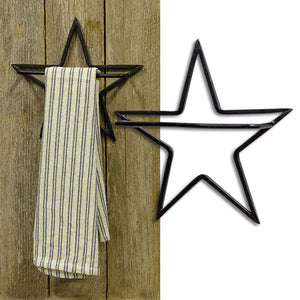 Black Star Towel Holder Farmhouse Bath Kitchen - Jam-Discount Home Decor
