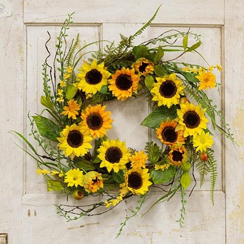 Summer Sunflower & Berry Wreath, 20