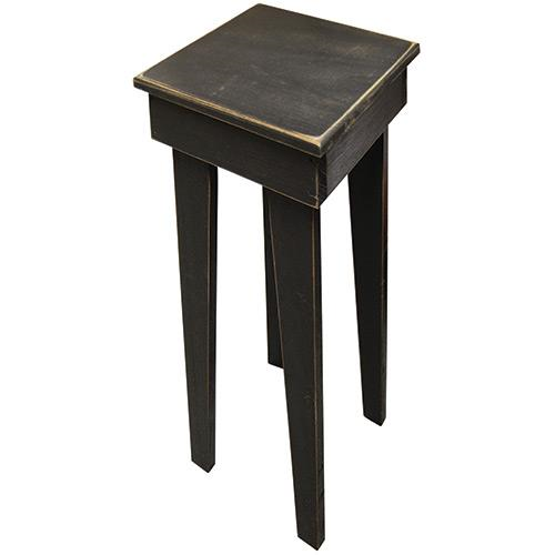 Distressed Black Wood Square Table - Jam-Discount Home Decor