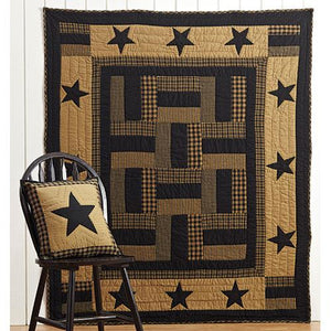 Patchwork Delaware Star Twin Quilt, 86x68 - Jam-Discount Home Decor