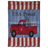 Polyester Outdoor Garden Flags Old Truck Camper Junkin Welcome - Jam-Discount Home Decor