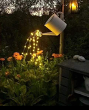 Flowing Watering Can Waterfall Of Lights 100ct Multi function Solar Lights