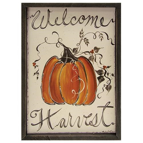 Welcome Harvest Sign Painted Pumpkin - Jam-Discount Home Decor