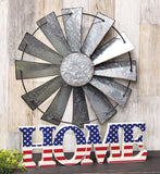 Galvanized Windmill Wall Art Farmhouse Country - Jam-Discount Home Decor