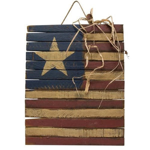 Lath Americana Flag Plaque Memorial Day 4th of July - Jam-Discount Home Decor