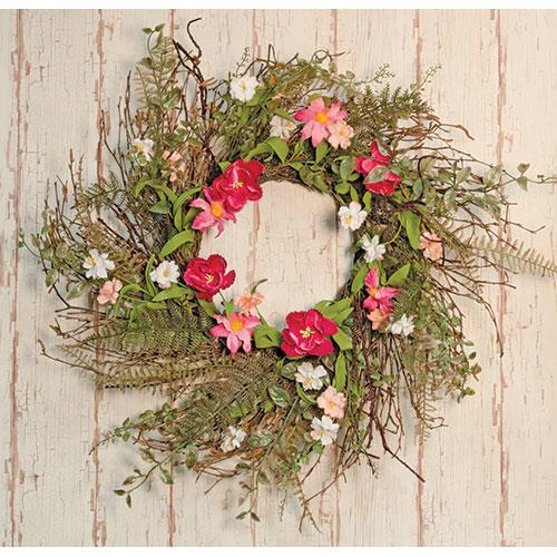 Spring Pink Gardenia Wreath Garland Teardrop Wedding Decor - Jam-Discount Home Decor