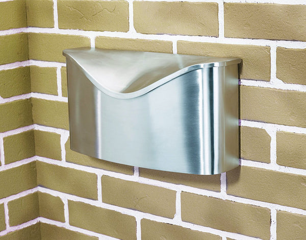Umbra Postino Wall-Mount Mailbox, Stainless Steel [2 to 5 Day Free Delivery]