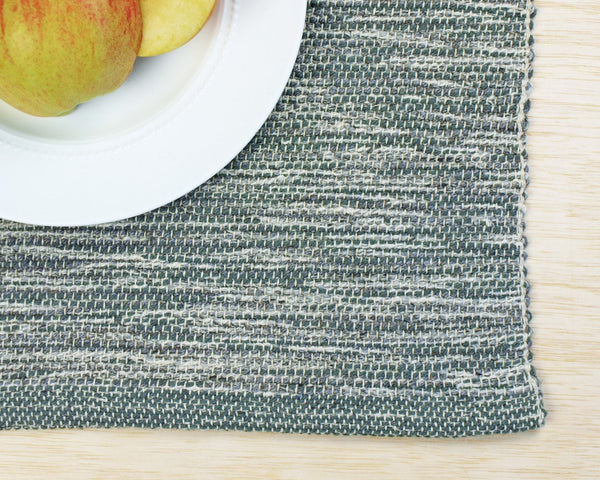 Made in USA | Hand Made Loomed Place Mats, Set of Four, Choose from 4 Colors