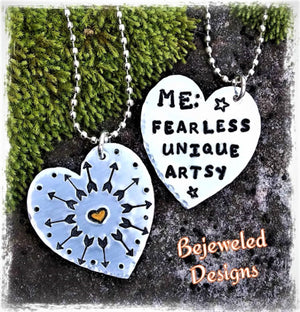 Introduction to Metal Stamping Heart Pendant Class July 9th 5:30 - 7:30