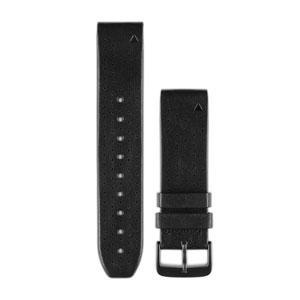 Garmin QuickFit 22 Watch Band Black Leather - TechSmartWear