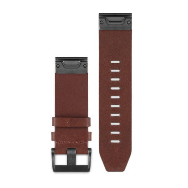 Garmin QuickFit 26 Watch Band Brown Leather - TechSmartWear