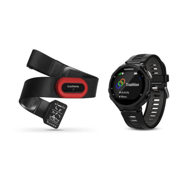 GARMIN FORERUNNER 735XT- Black and Grey Run Bundle - TechSmartWear