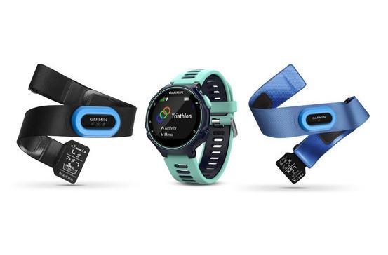 GARMIN FORERUNNER 735XT- Midnight Blue and Frost Blue Triathlon Bundle - TechSmartWear