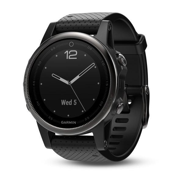 Garmin Fenix 5S Black Sapphire with Black Band - TechSmartWear