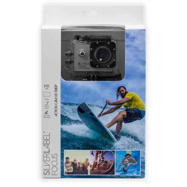 Silverlabel Focus Action Cam 1080p packaged