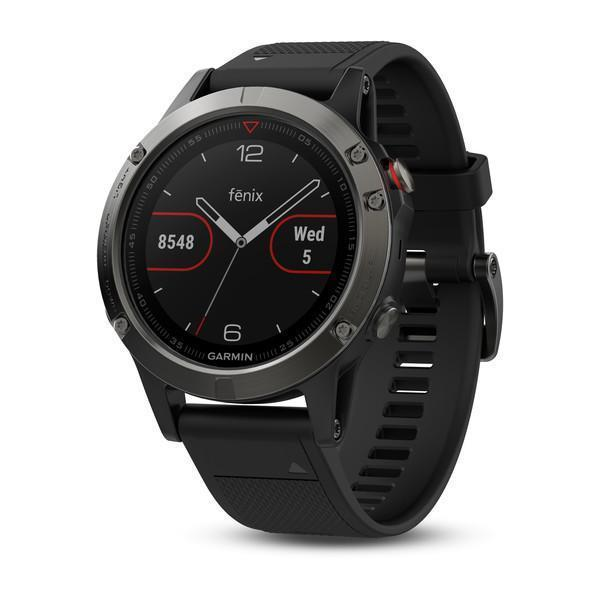 Garmin Smart Watch Slate grey with black band Garmin fenix 5