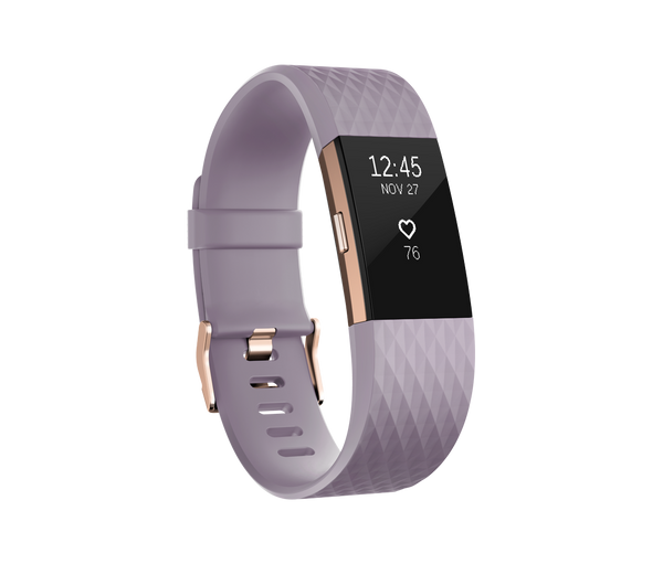 Fitbit Charge 2 Lavender 22k Rose Gold Plated - TechSmartWear