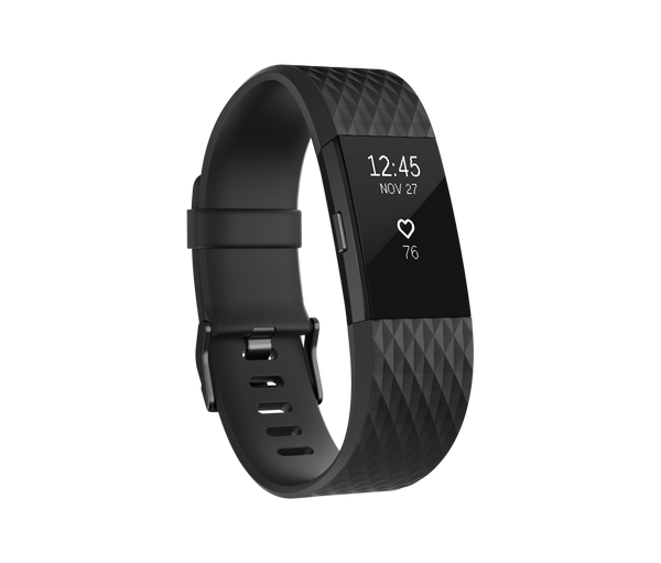 Fitbit Charge 2 Black Gunmetal Stainless Steel - TechSmartWear