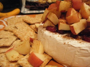 Organic Apple Cranberry Baked Brie
