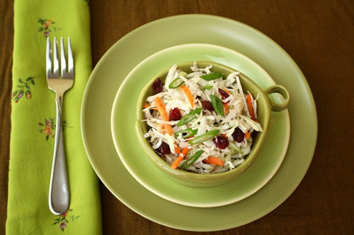 Easy Organic Coleslaw with Dried Cranberries