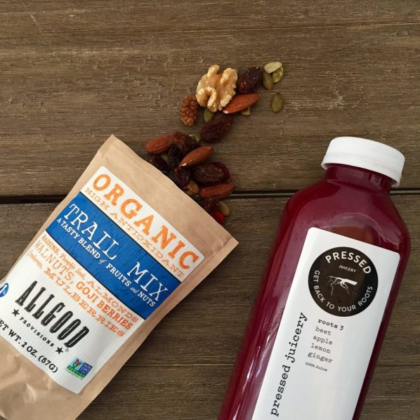 pressed juicery with trail mix