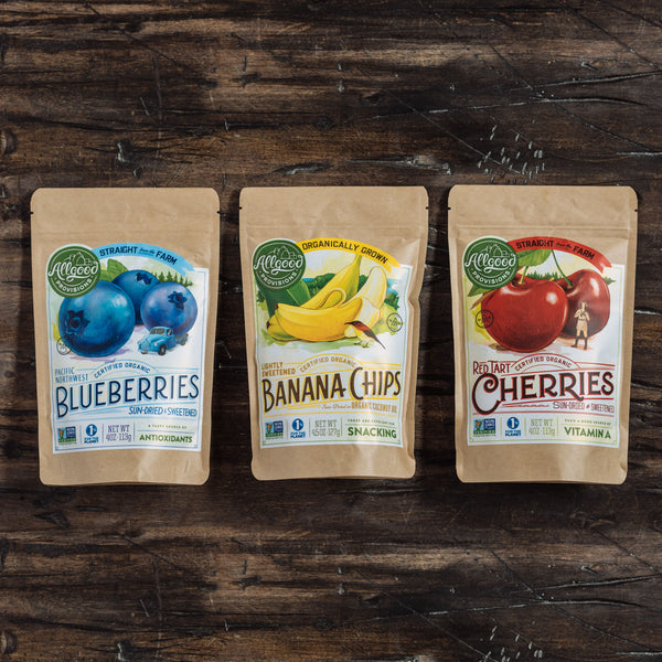 "ORGANIC FRUITPACK<div class=""product-description"">Blueberries/Bananas/Cherries</div>"