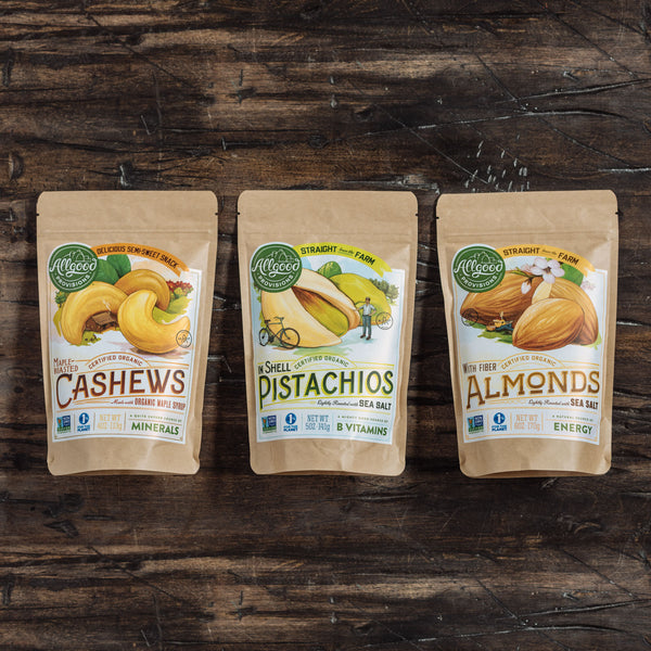 "NUT PACK<div class=""product-description"">Cashews/Pistachios/Almonds</div> - Allgood Provisions"