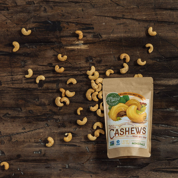 "MAPLE ROASTED CASHEW MULTIPACK (10 packs of 1.5oz pouches)<div class=""product-description"">Lightly Roasted with Seal Salt</div> - Allgood Provisions"