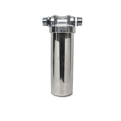 "2.5"" x 10"" Stainless Steel Sump and Cap Assembly - Parts - Crystal Quest Water Filters"