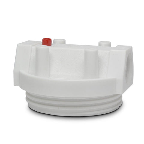 "2.5"" x 20"" White Poly Cap - Parts - Crystal Quest Water Filters"