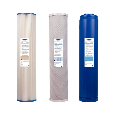 4000/5000 GPD Whole House RO Filter Pack - Water Filter Cartridges - Crystal Quest