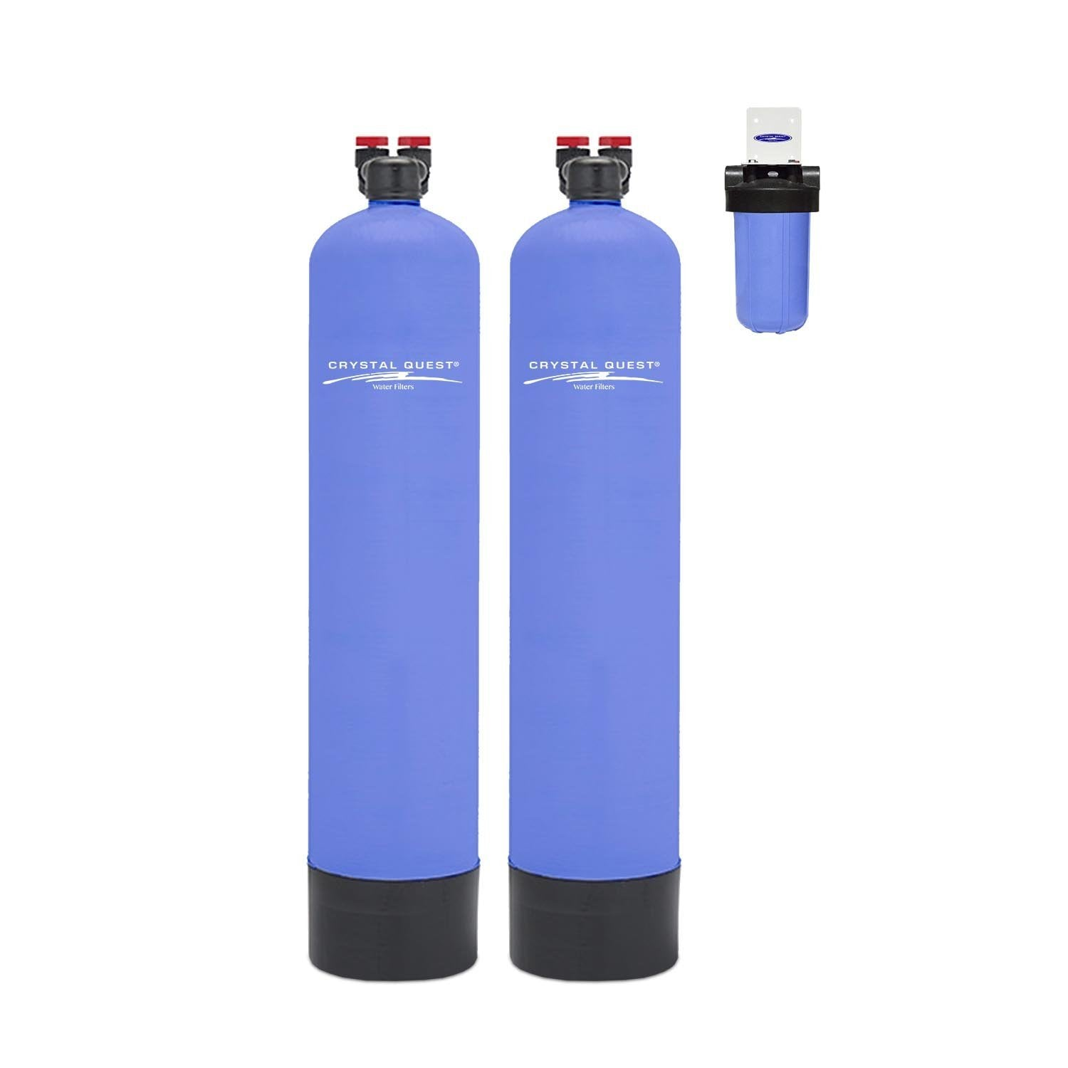 No Electricity Required. Whole House Water Filter 1.5CU FT GAC Carbon IN /& OUT