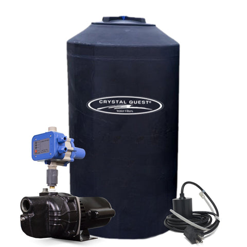 Atmospheric Storage Tank Kit with Pump - 165 Gallon - Parts - Crystal Quest Water Filters