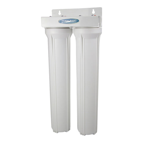"Commercial 20"" Double Cartridge Water Filter - Commercial - Crystal Quest Water Filters"