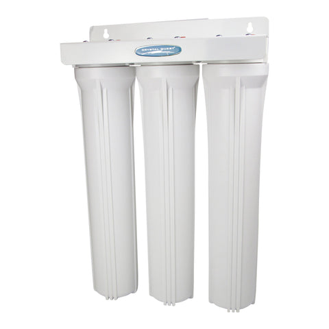 "Commercial 20"" Triple Cartridge Water Filter - Commercial - Crystal Quest Water Filters"