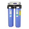 "Double / 1"" Big Blue Whole House Water Filter, Alkalizing (4-6 GPM 